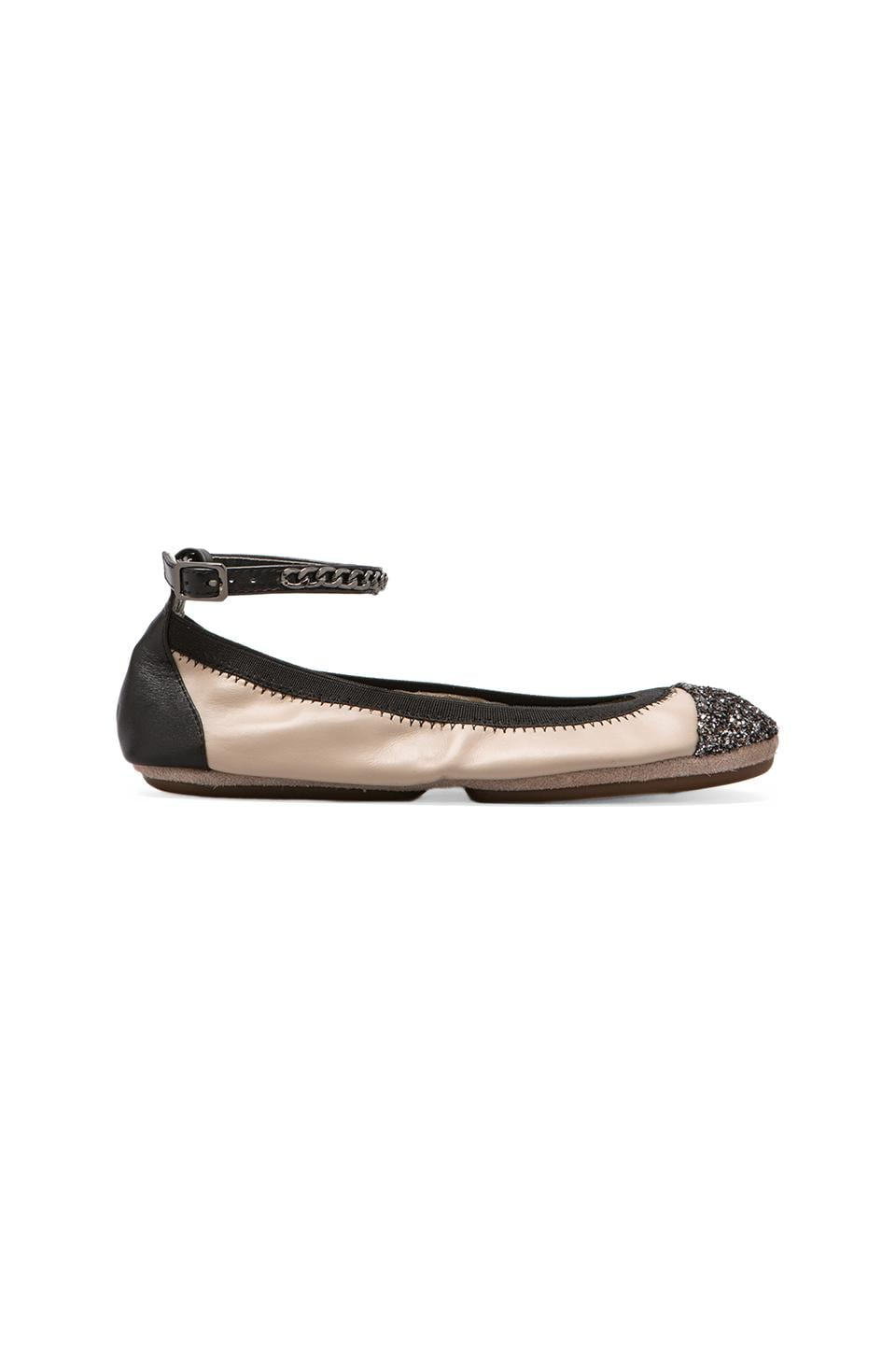 Yosi Samra Abbey Two Toned Glitter Flat