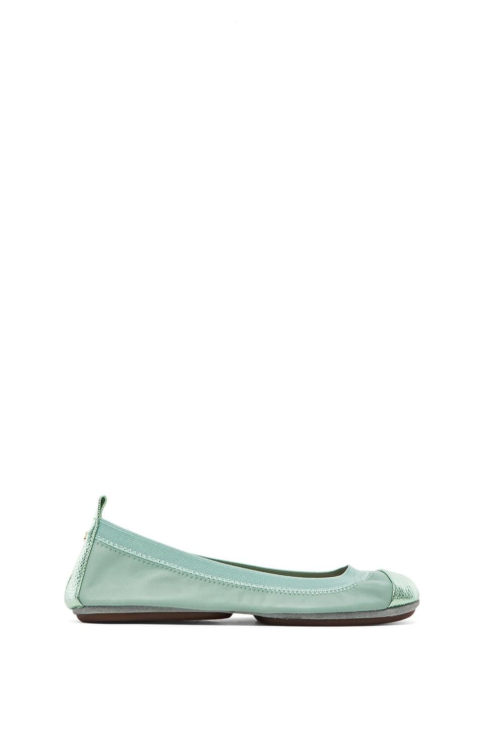 Yosi Samra Samantha Soft Leather Fold Up Flat in Seafoam