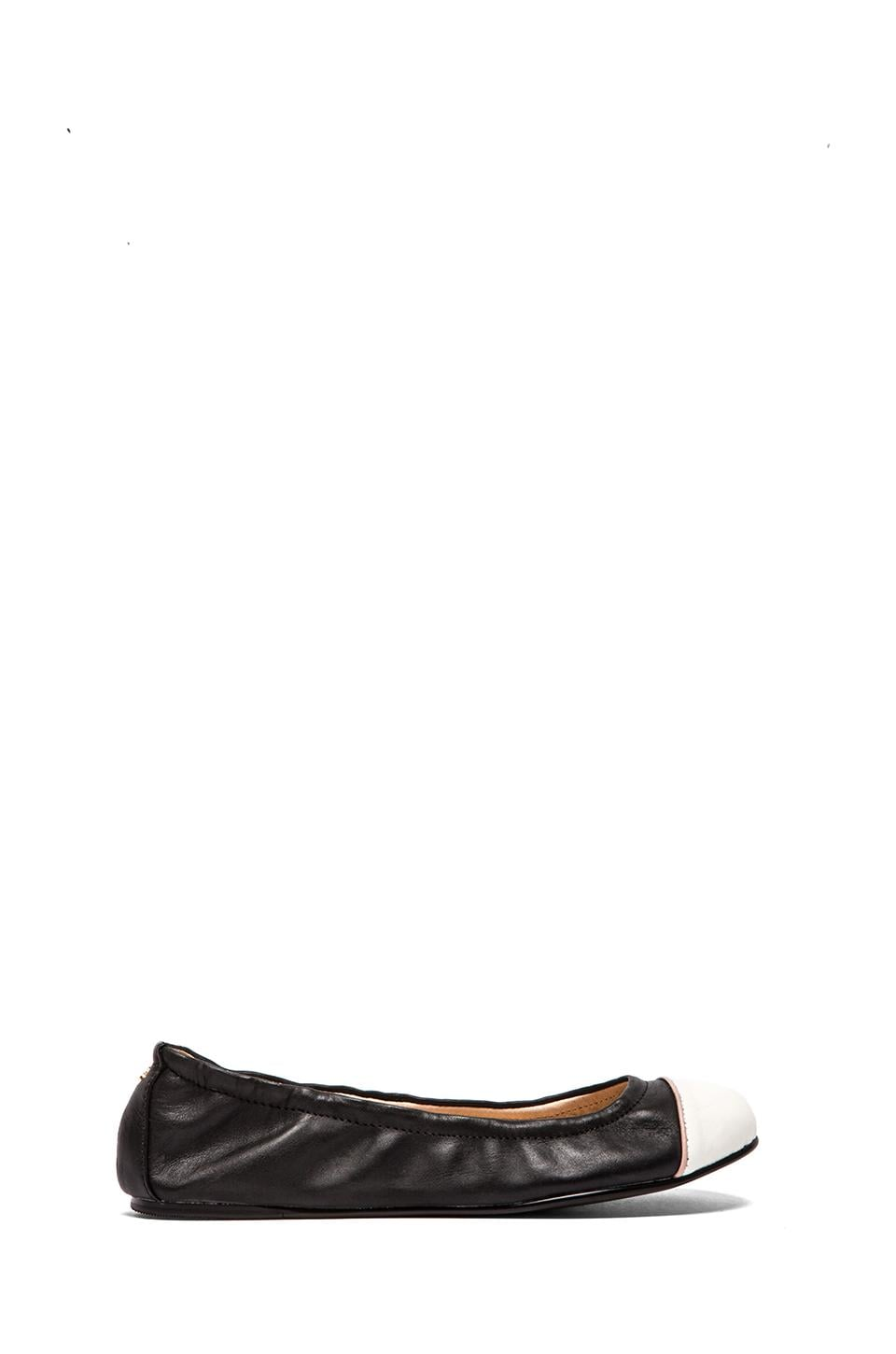 Yosi Samra Marni Flexable Contrast Flat in Black & White