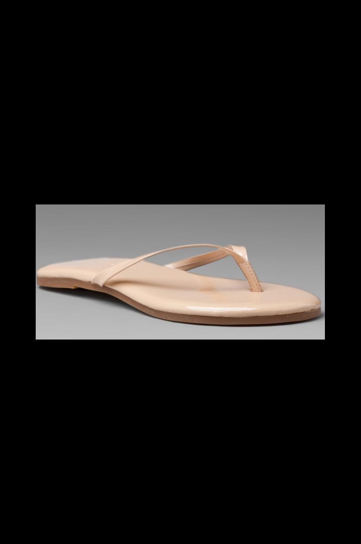 Yosi Samra Patent Sandal in Nude