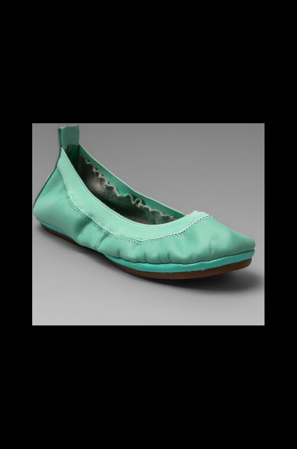 Yosi Samra Leather Flat in Mint