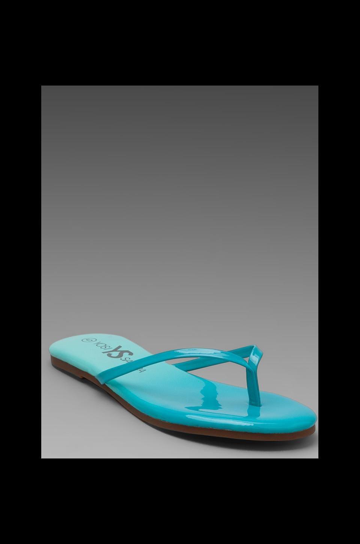 Yosi Samra Ombre Sandal in Turquoise/Blue Sea
