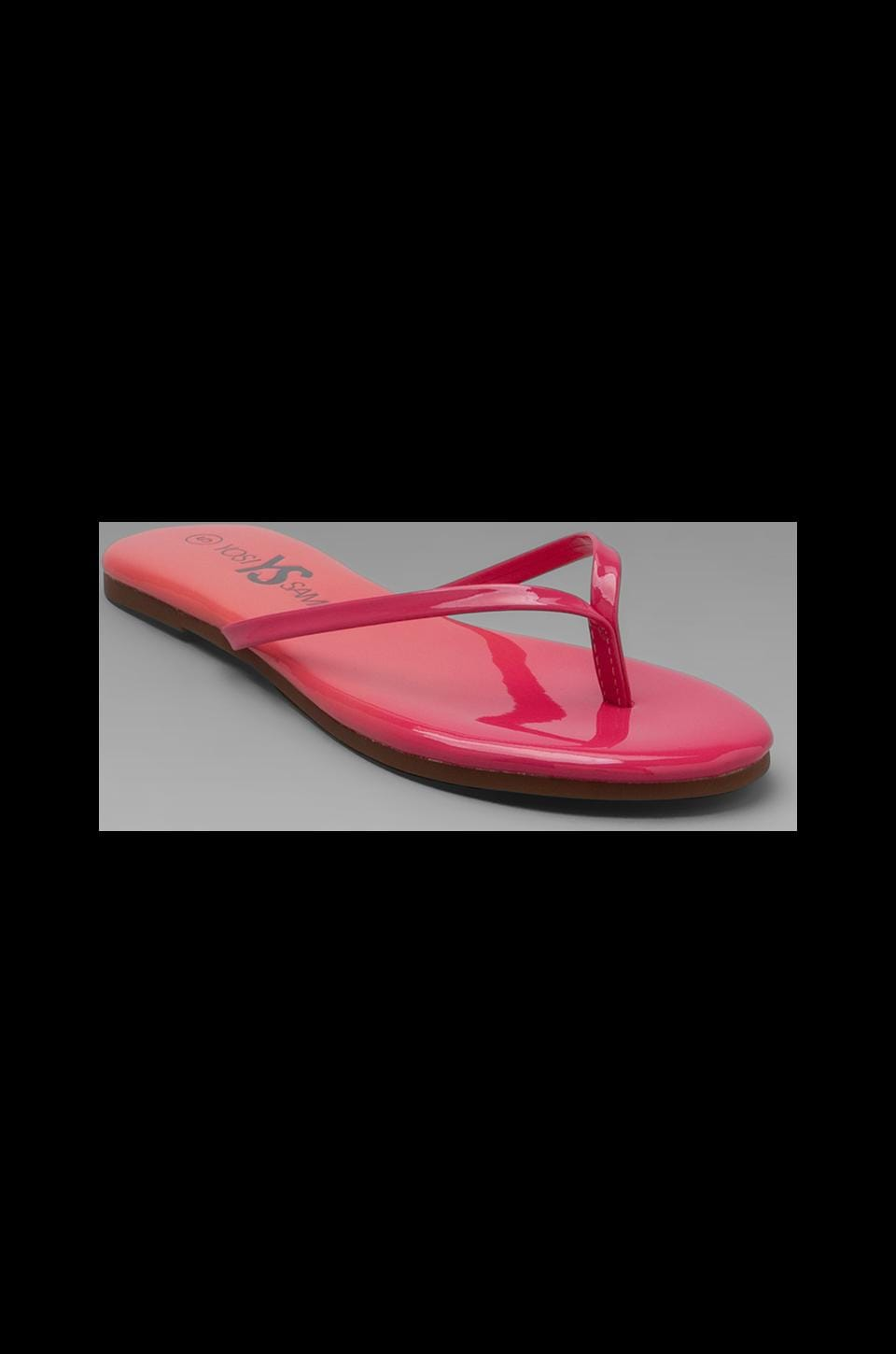 Yosi Samra Omber Sandal in Burnt Coral/Pink Sunset