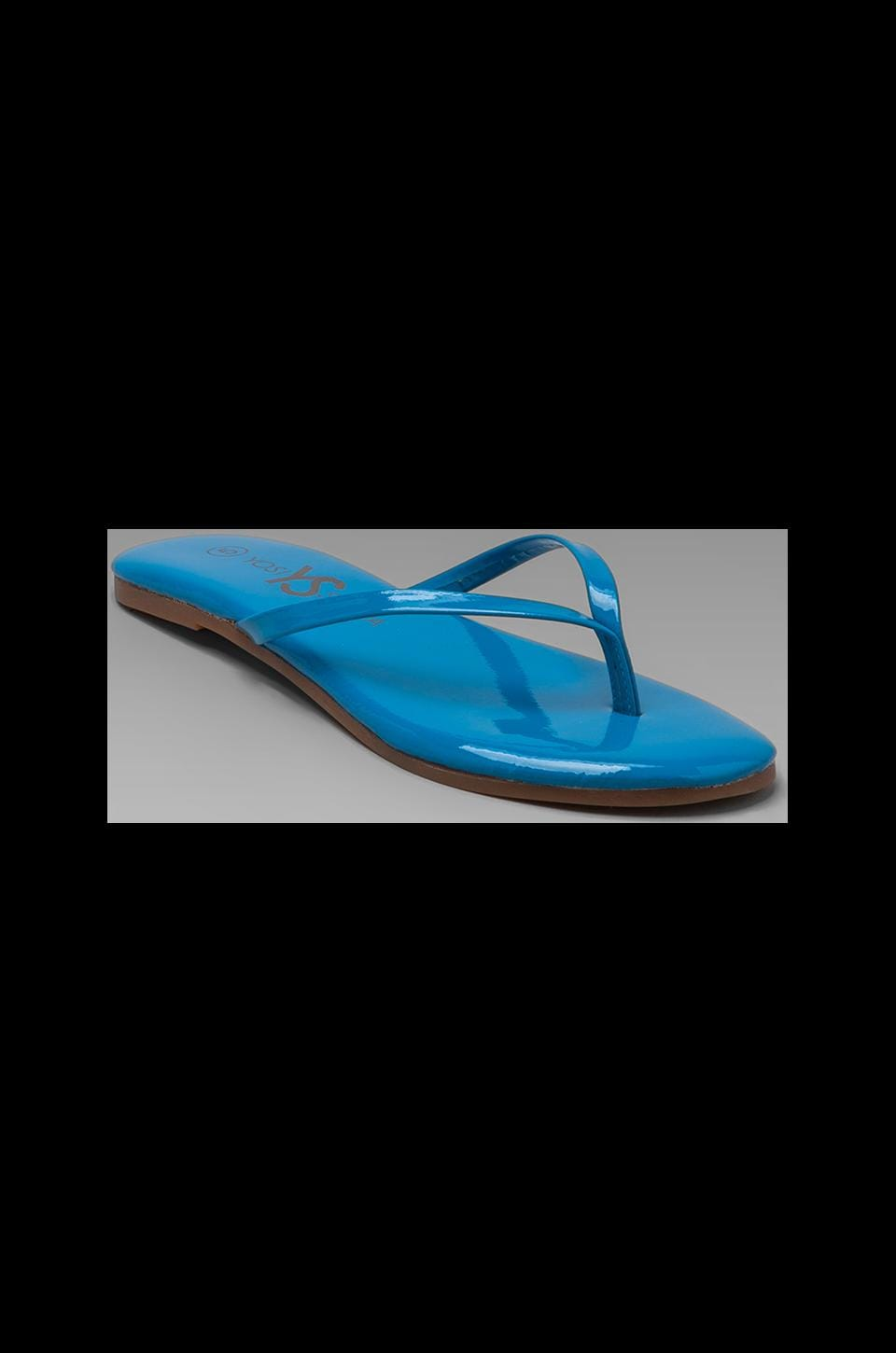 Yosi Samra Patent Leather Sandal in True Blue