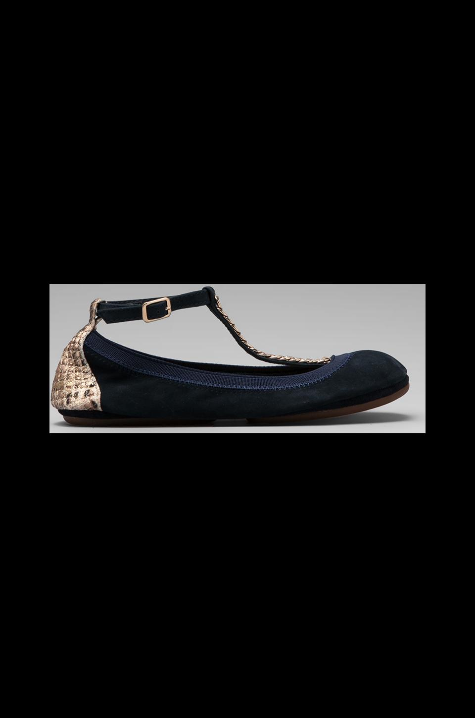 Yosi Samra Two Tone Flat in Midnight/Gold Serpent