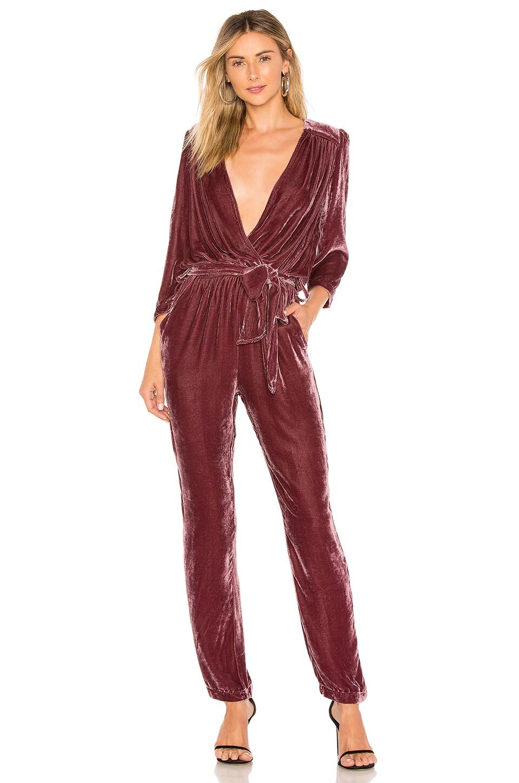 Young, Fabulous & Broke Bellows Jumpsuit in Grape Velvet