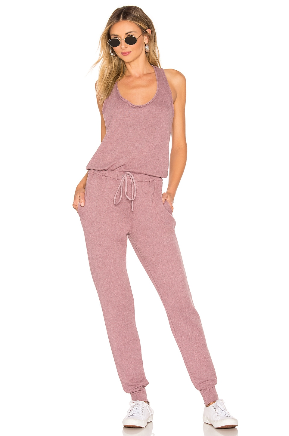 Young, Fabulous & Broke Eberhart Jumpsuit in Marled Berry