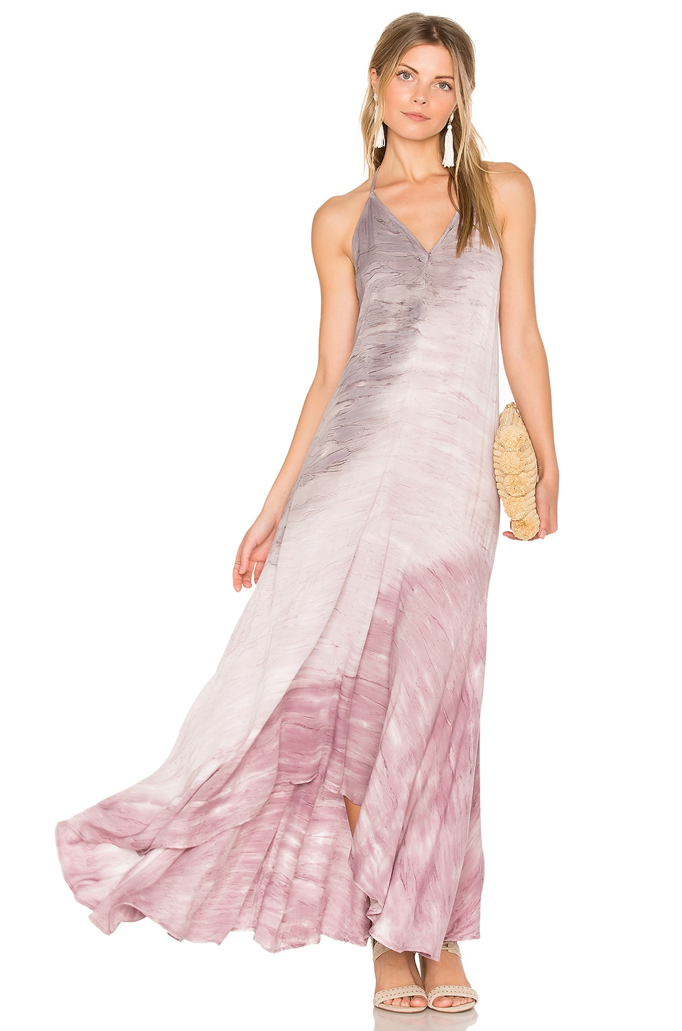 Young, Fabulous & Broke Shanice Dress in Orchid Reef Wash