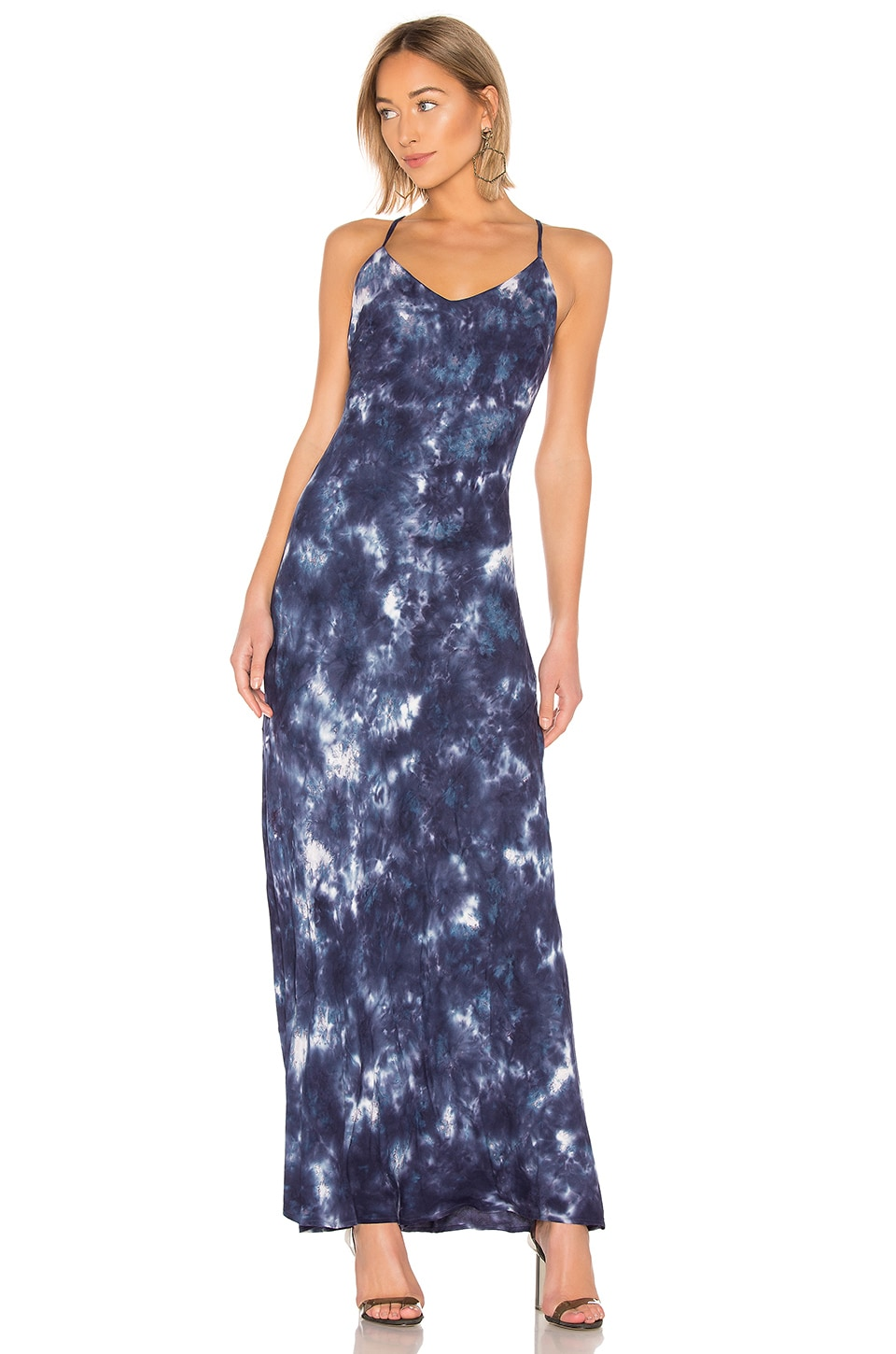 Young, Fabulous & Broke Romee Maxi Dress in Midnight Smoke Wash