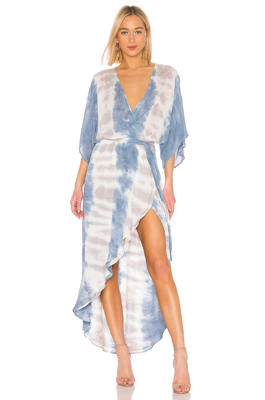 Young, Fabulous & Broke Isla Dress in Sky Frequency Wash