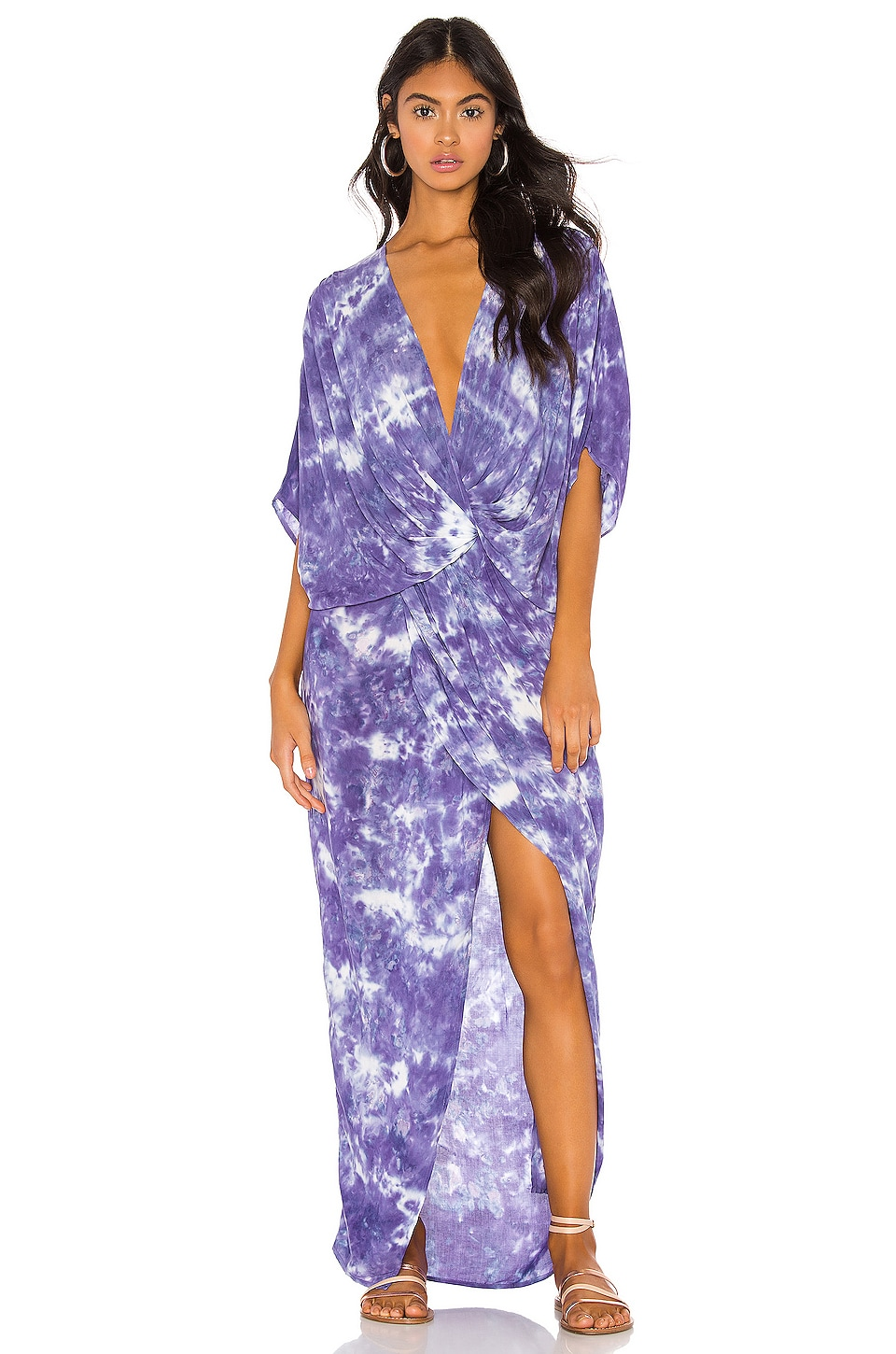 Young, Fabulous & Broke Luelle Dress in Violet Micro Wash