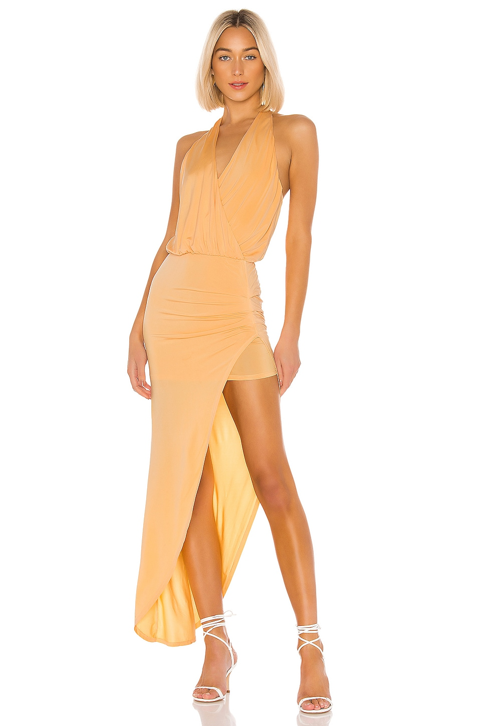 Young, Fabulous & Broke Birdseye Dress in Mango