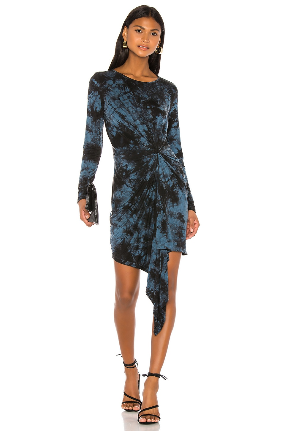 Young, Fabulous & Broke Maisie Dress in Electric Blue Burst Wash