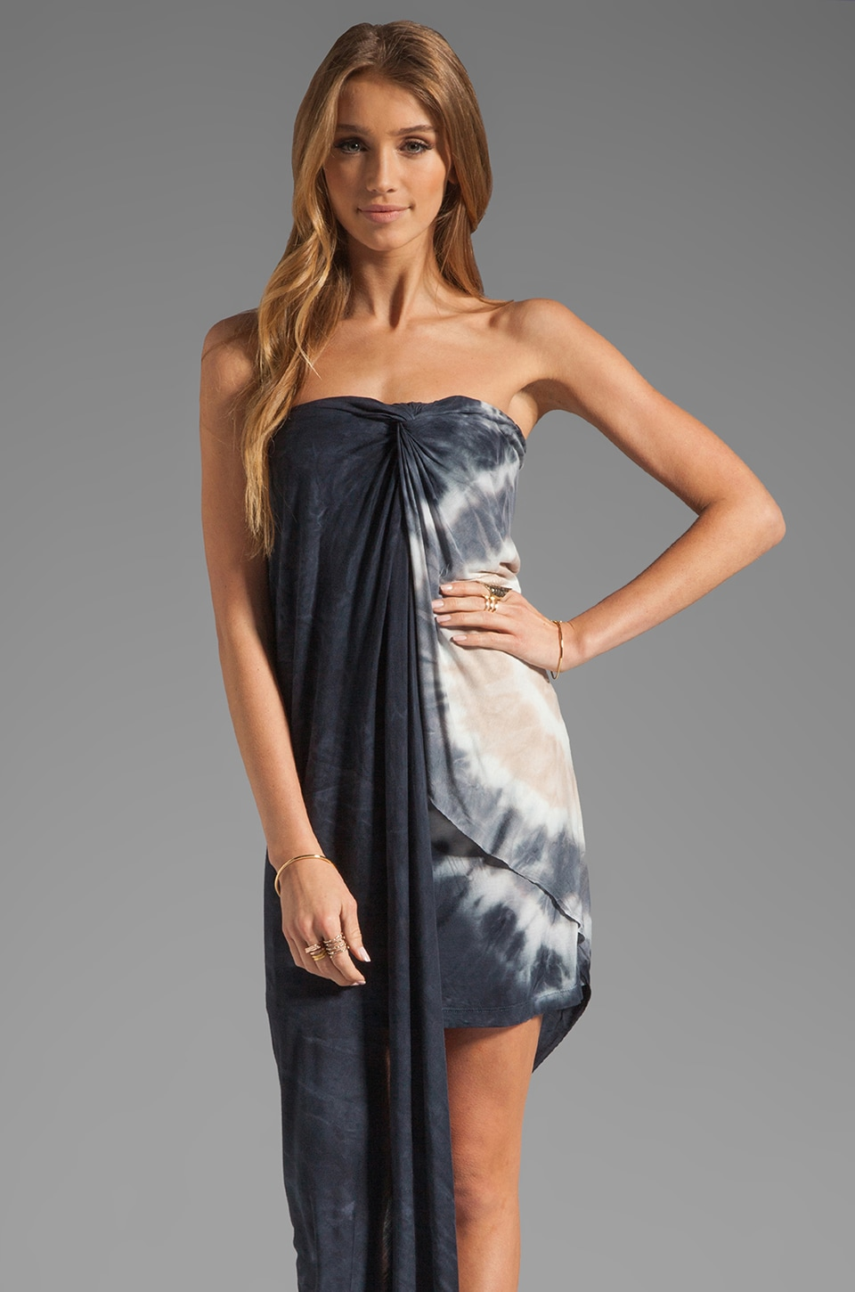 Young, Fabulous & Broke Kai Dress in Black Zion Wash