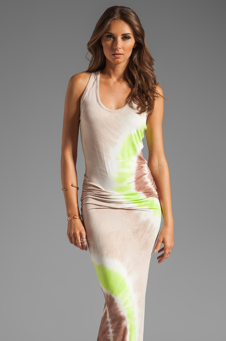 Young, Fabulous & Broke Hamptons Maxi in Lime Zion Wash