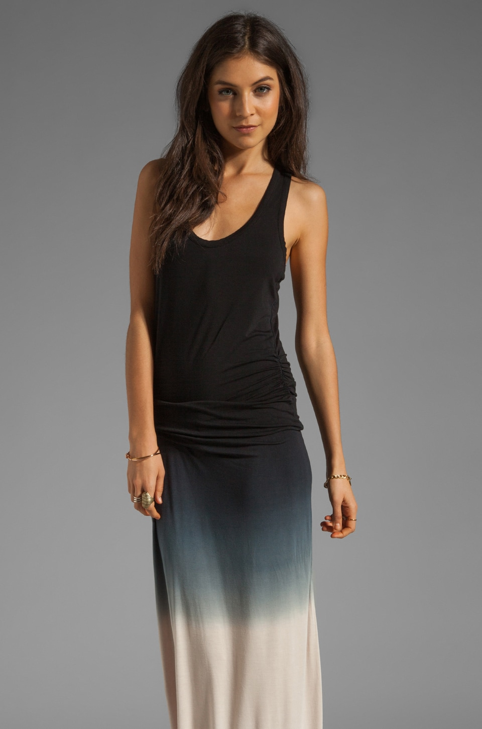 Young, Fabulous & Broke Hamptons Dress in Black Sunset Ombre