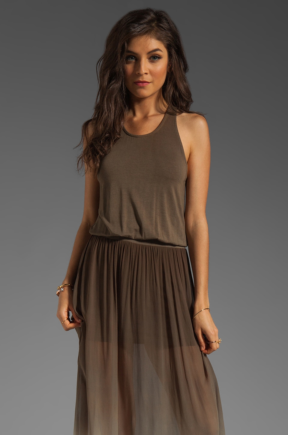 Young, Fabulous & Broke June Maxi in Olive Ombre
