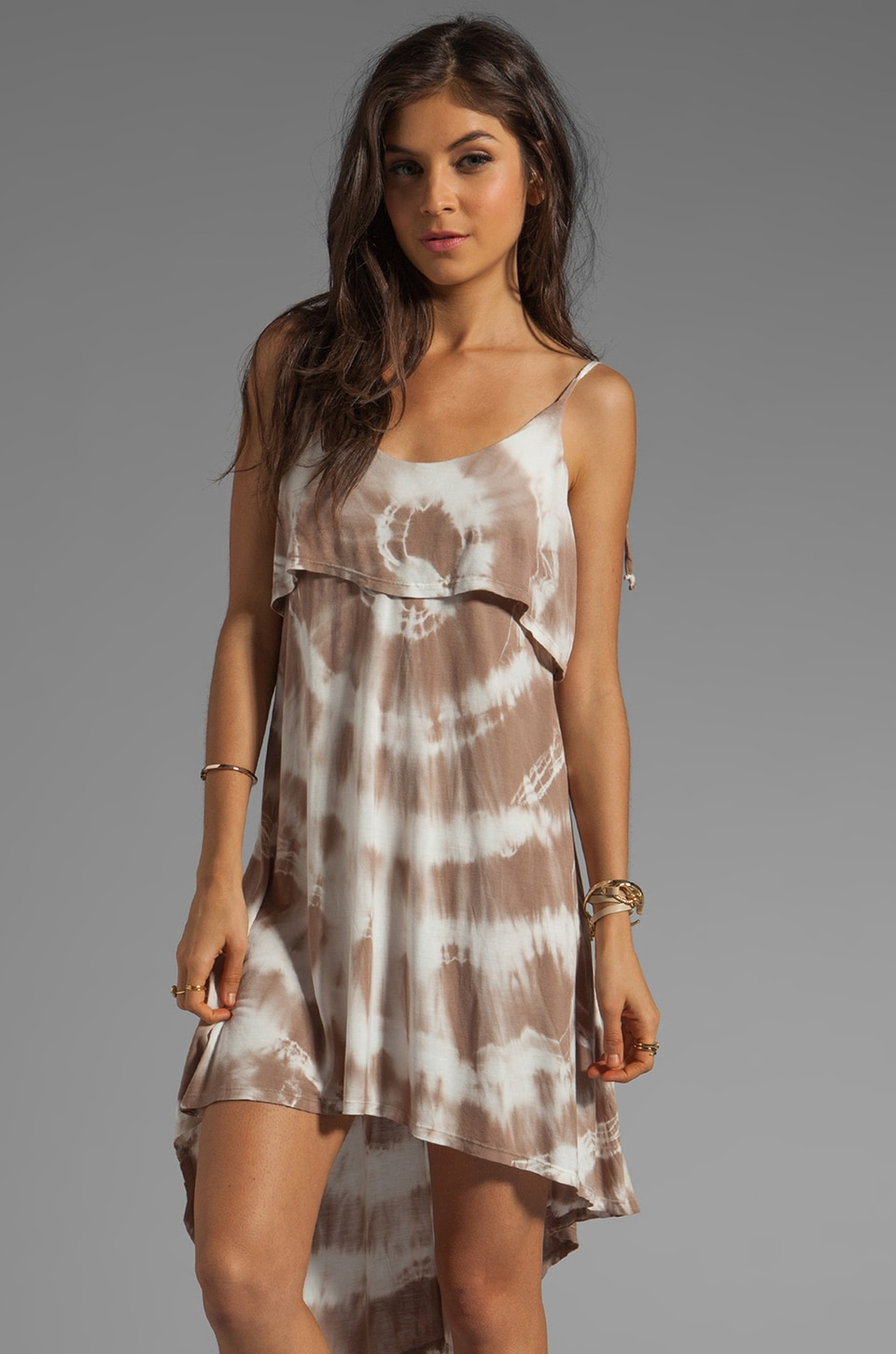 Young, Fabulous & Broke Pedra Dress in Tan Rio Wash