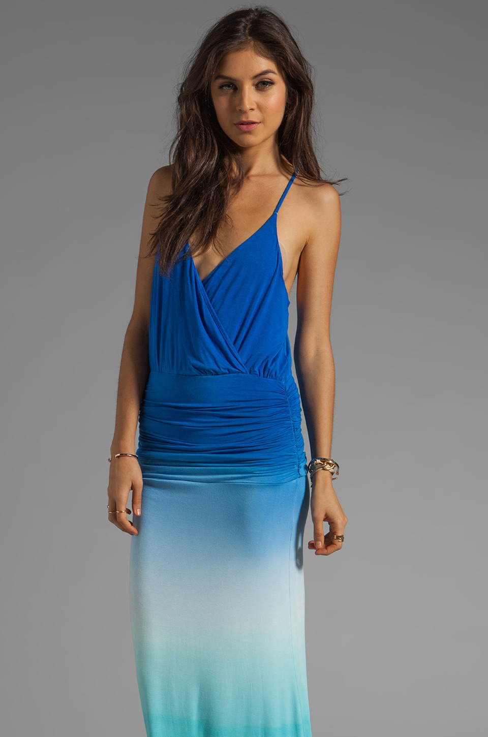 Young, Fabulous & Broke Hattie Dress in Blue Ombre