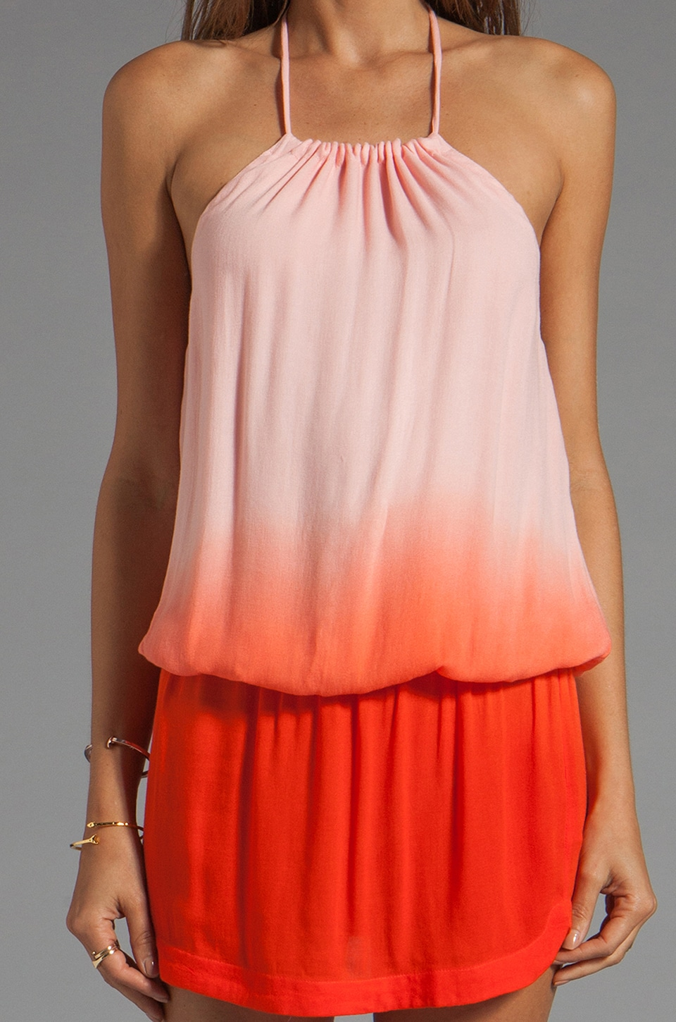 Young, Fabulous & Broke Drea Ombre Dress in Fire