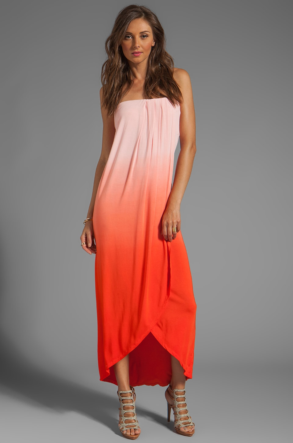 Young, Fabulous & Broke Brooklyn Ombre Maxi in Fire