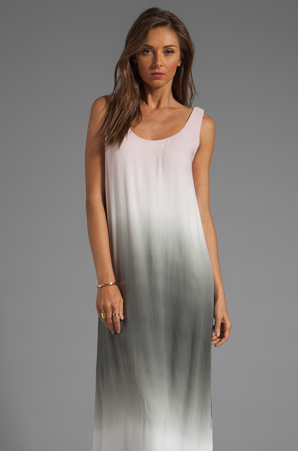 Young, Fabulous & Broke Shayne Ombre Maxi in Grey