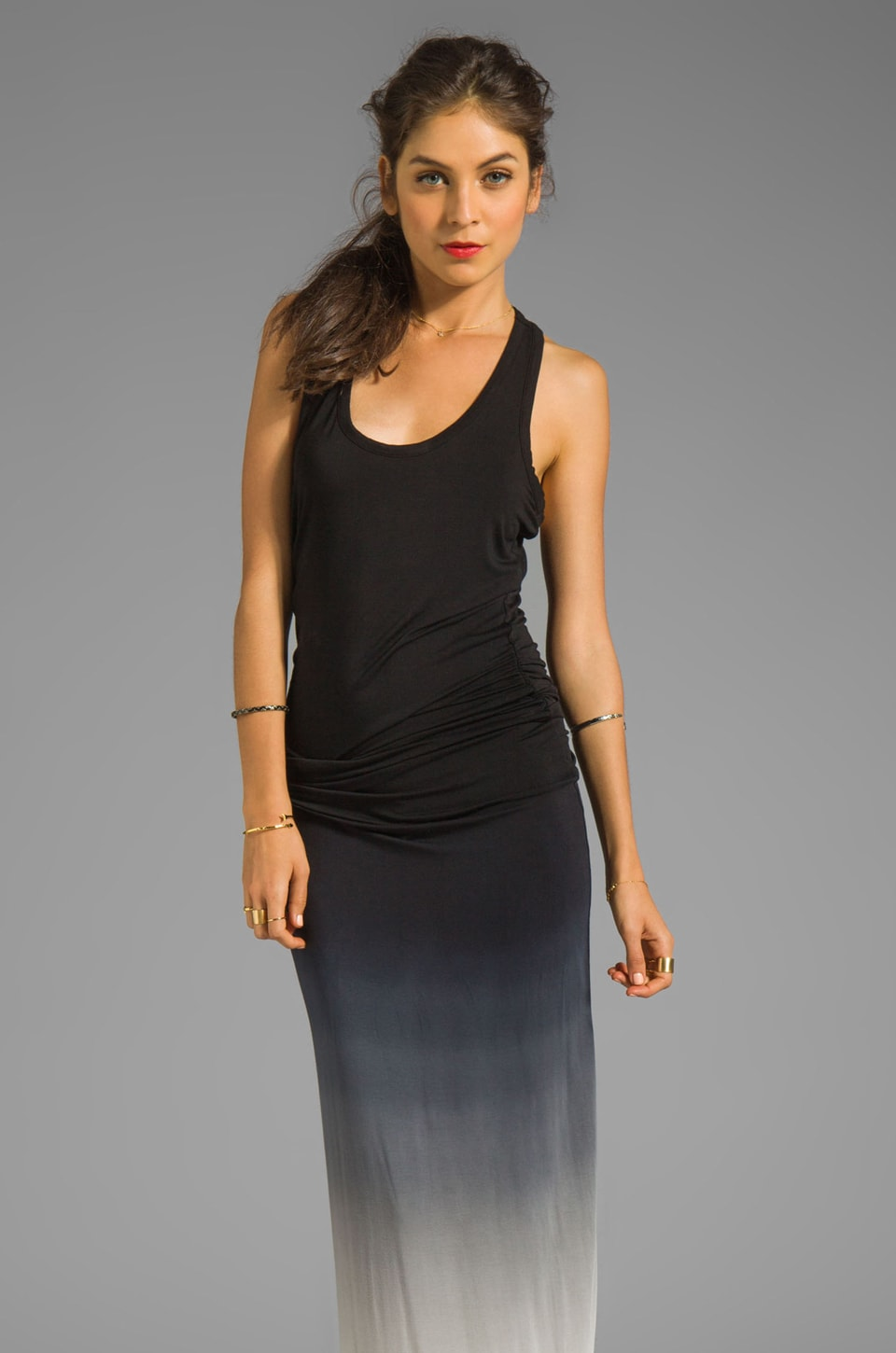Young, Fabulous & Broke Hamptons Ombre Dress in Charcoal