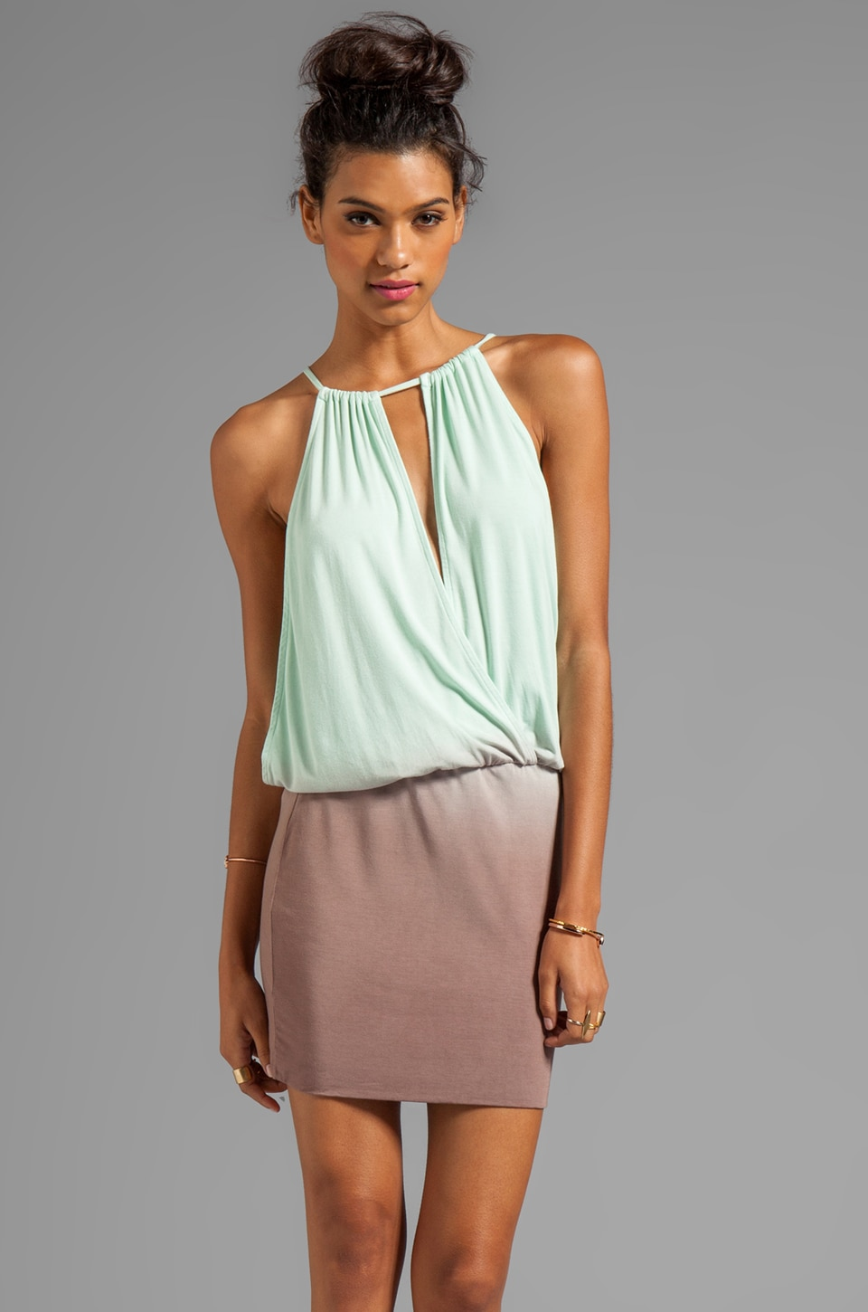 Young, Fabulous & Broke Dyna Ombre Dress in Crystal
