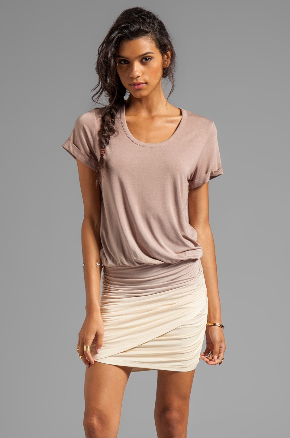Young, Fabulous & Broke Elise Ombre Dress in Sand