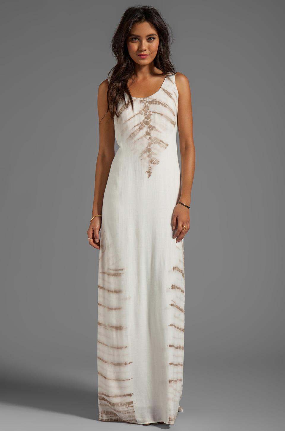 Young, Fabulous & Broke Shayne Carnivale Wash Maxi in Sand