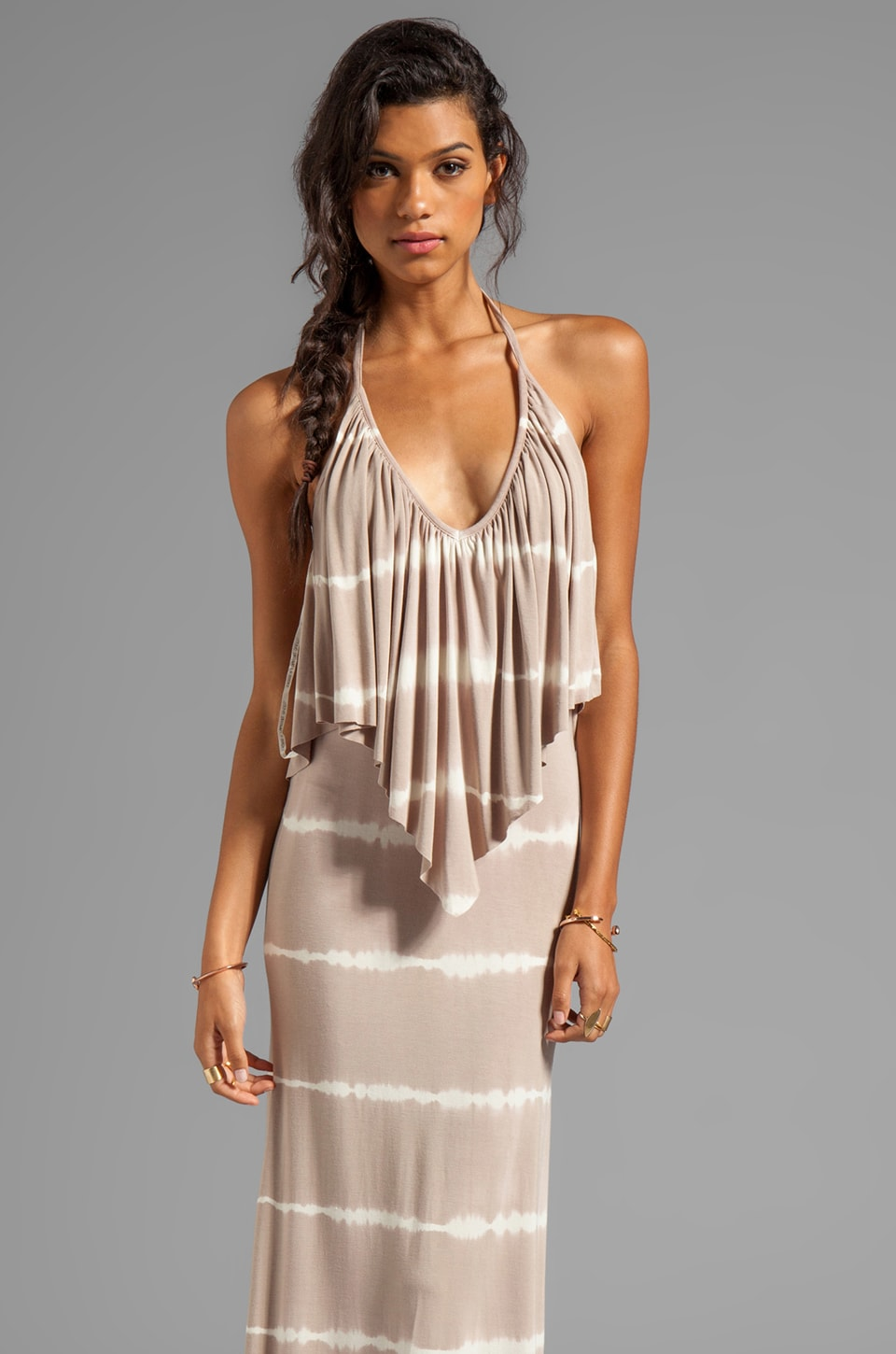 Young, Fabulous & Broke Ciara Skinny Stripe Maxi in Sand
