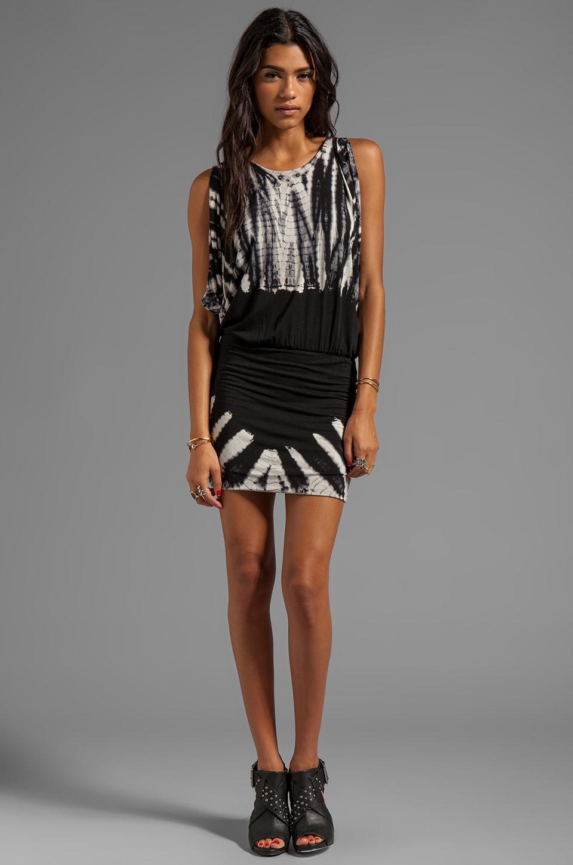 Young, Fabulous & Broke Matilda Skeleton Wash Dress in Black