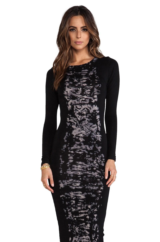 Young, Fabulous & Broke Lulu Ink Blot Dress in Black