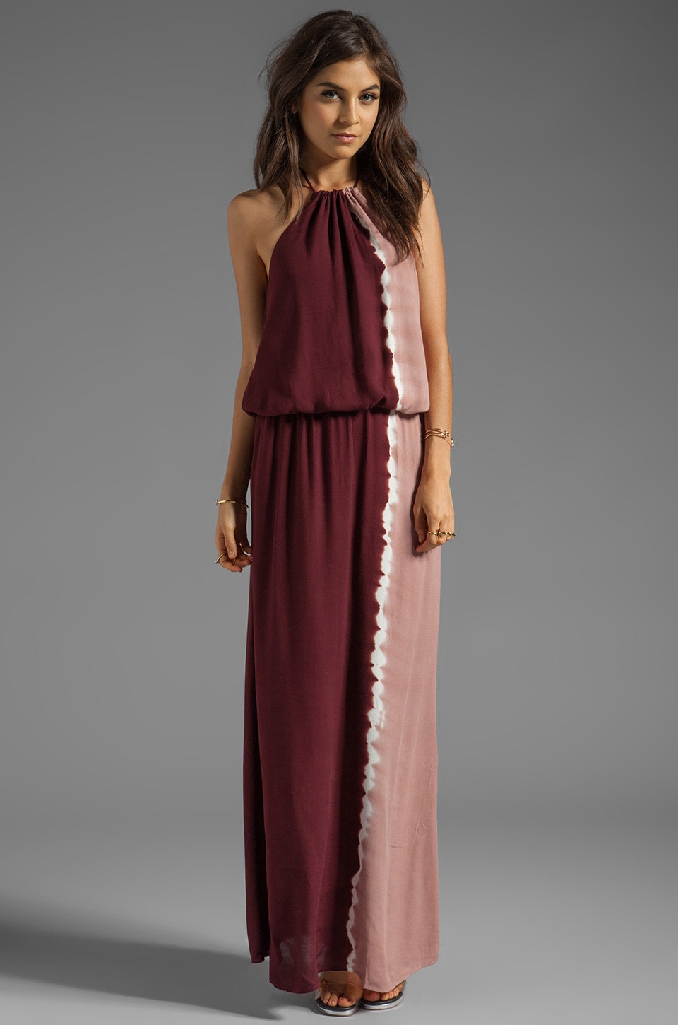 Young, Fabulous & Broke Kassandra Side Ombre Maxi in Brick