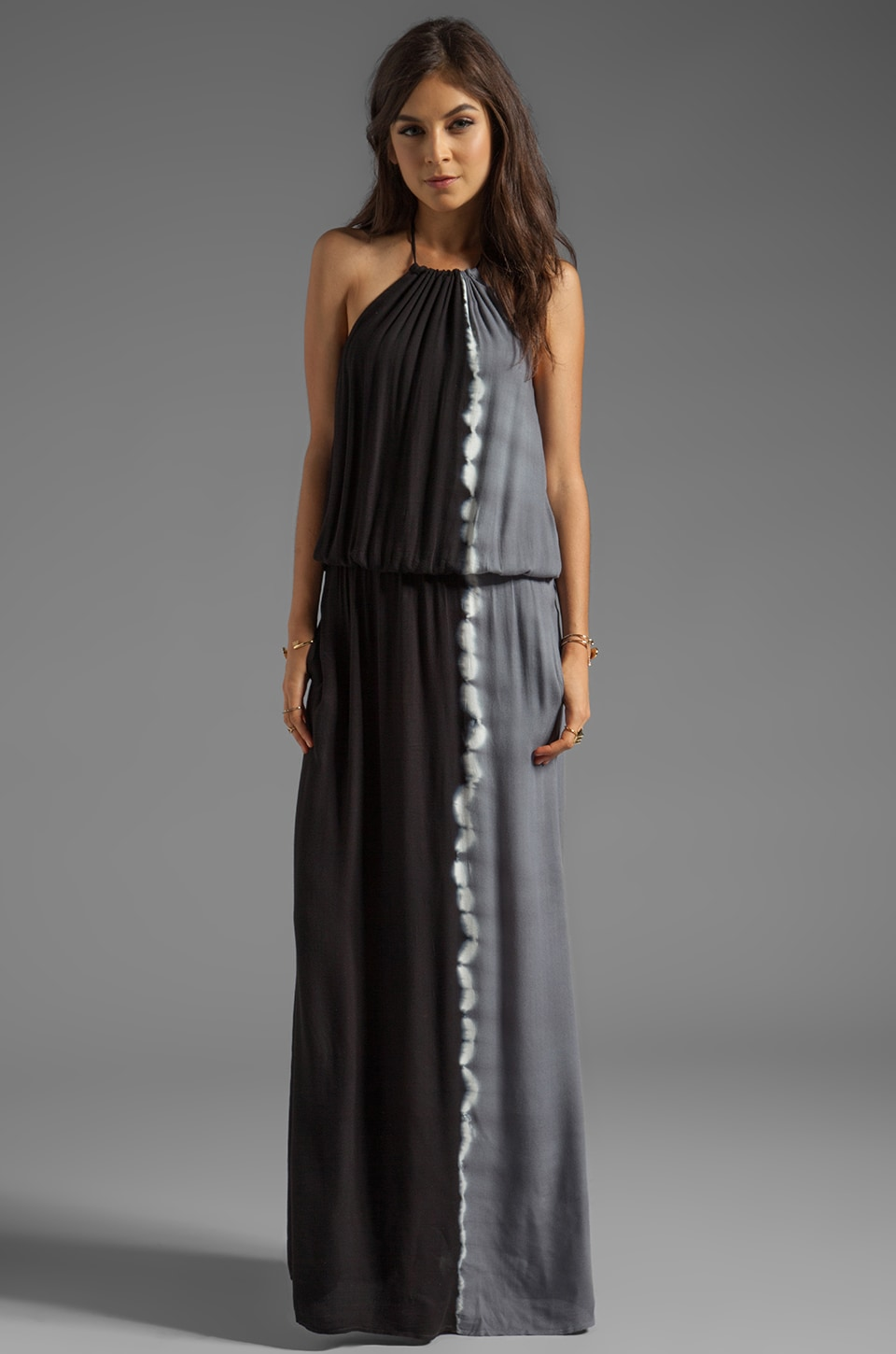 Young, Fabulous & Broke Kassandra Side Ombre Maxi in Black
