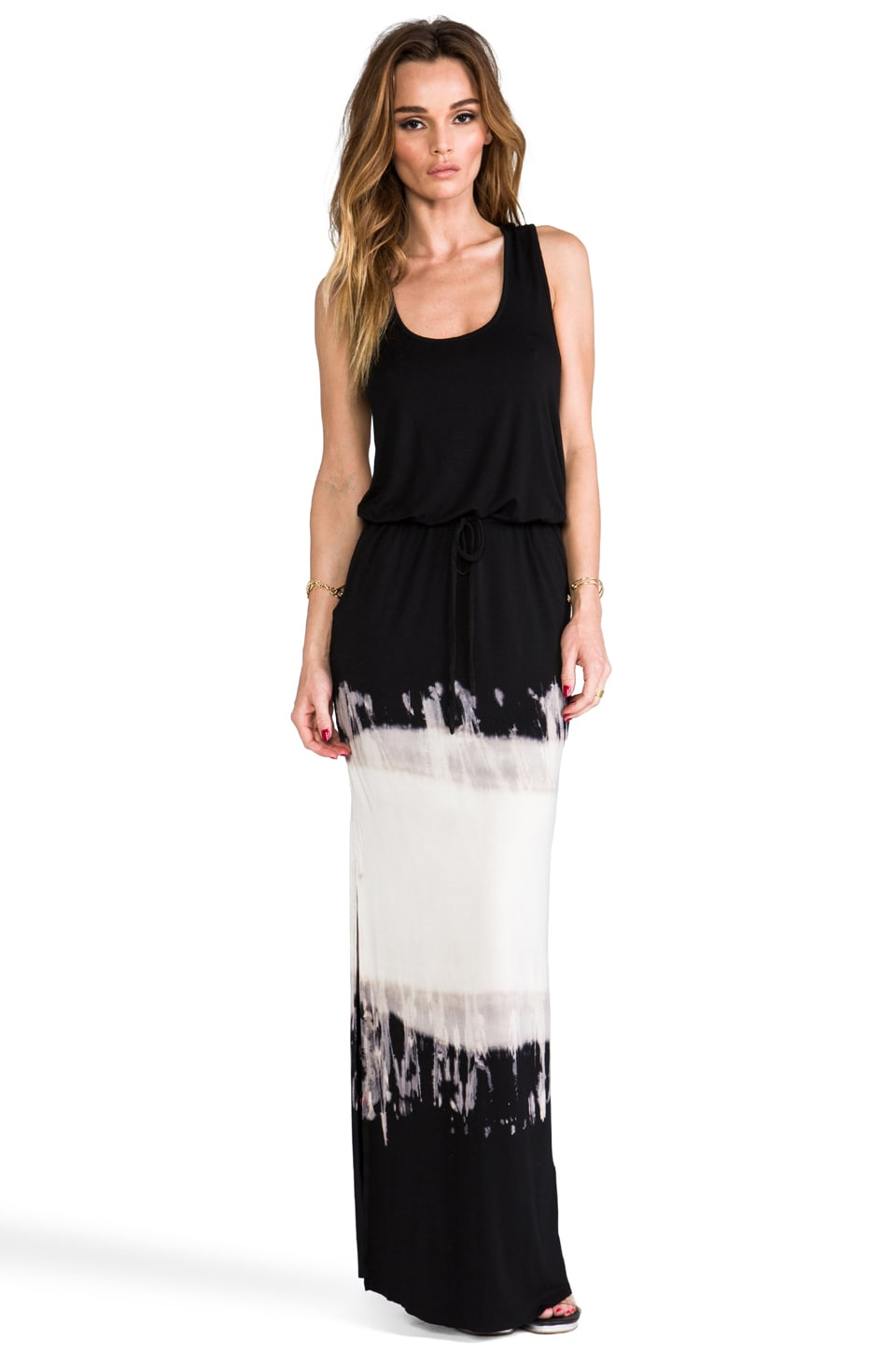 Young, Fabulous & Broke Gracie Streaky Double Dip Dye Maxi in Black