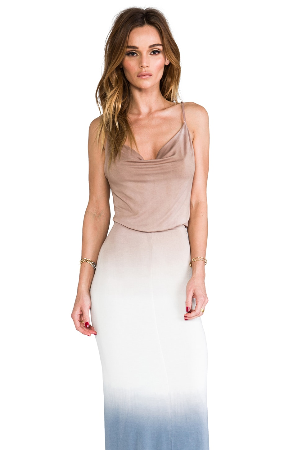 Young, Fabulous & Broke Livinia Ombre Maxi in Tan