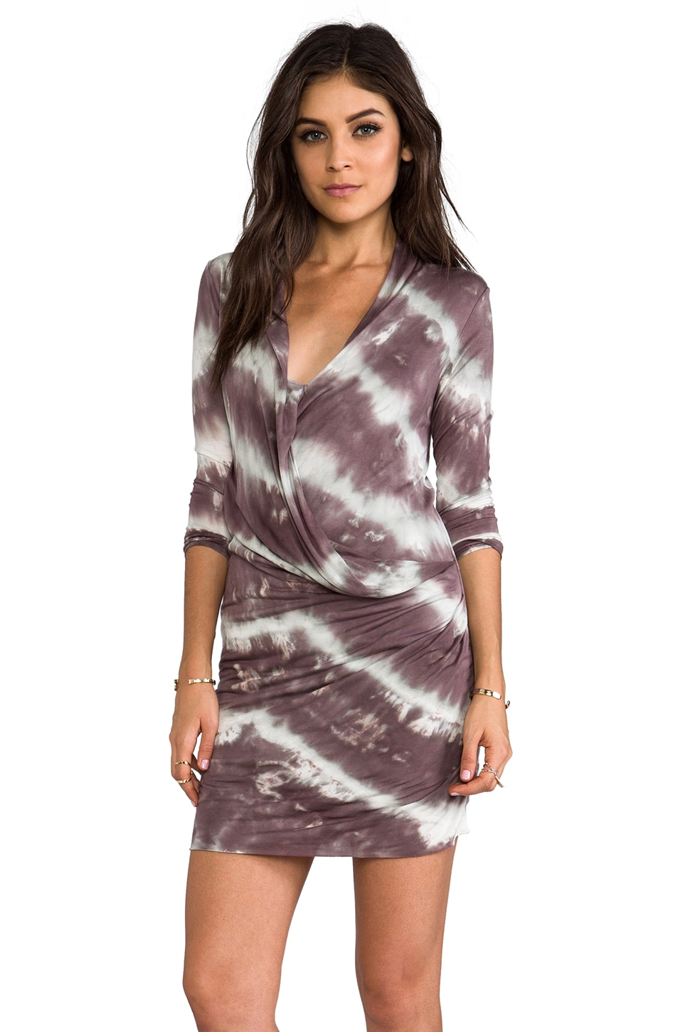Young, Fabulous & Broke Fia Diagonal Wash Dress in Portabello
