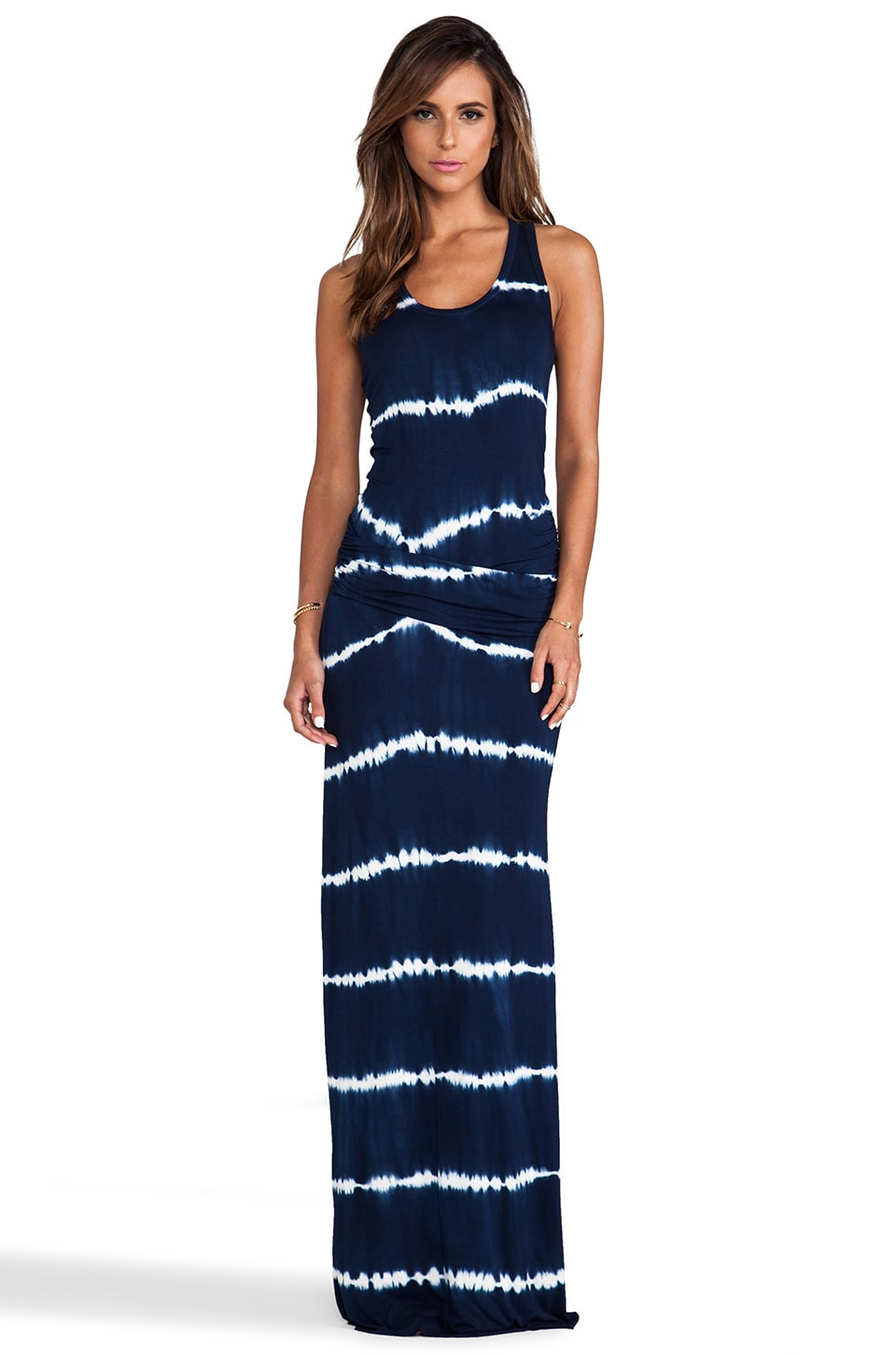 Young, Fabulous & Broke Hamptons Maxi in Navy Skinny Stripe