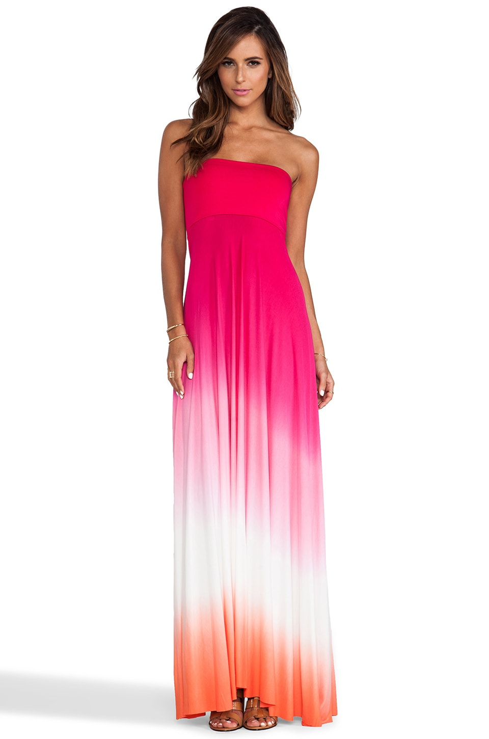 Young, Fabulous & Broke Bangal Maxi in Fuschia Ombre