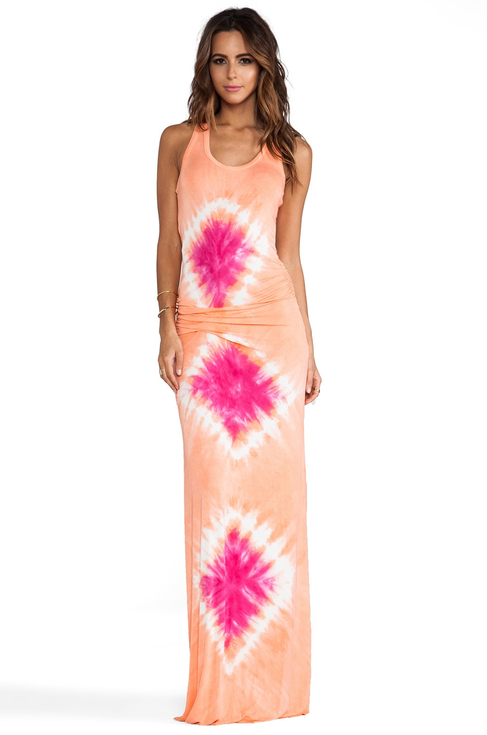 Young, Fabulous & Broke Hamptons Maxi in Guava Aquatic Wash