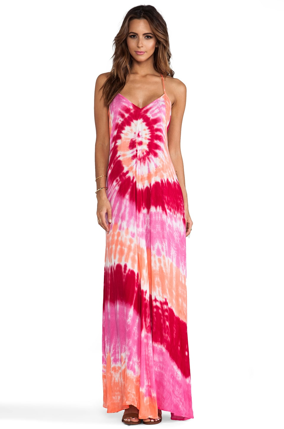 Young, Fabulous & Broke Fortune Maxi in Fuchsia Infinity Wash
