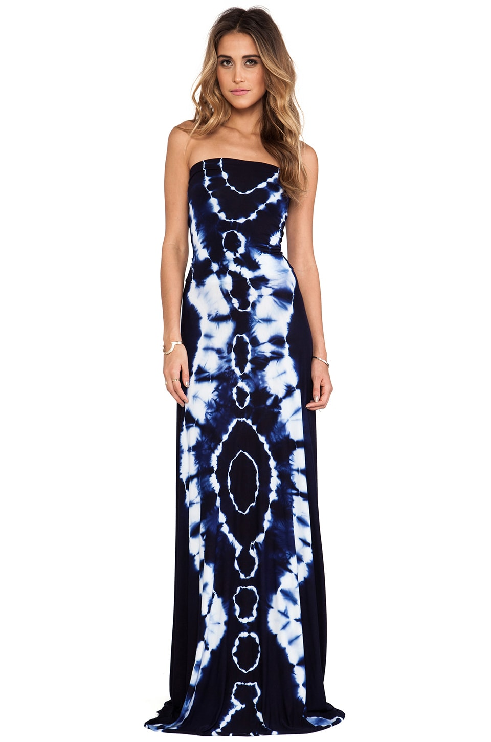 Young, Fabulous & Broke Bangal Maxi in Navy Boa Wash