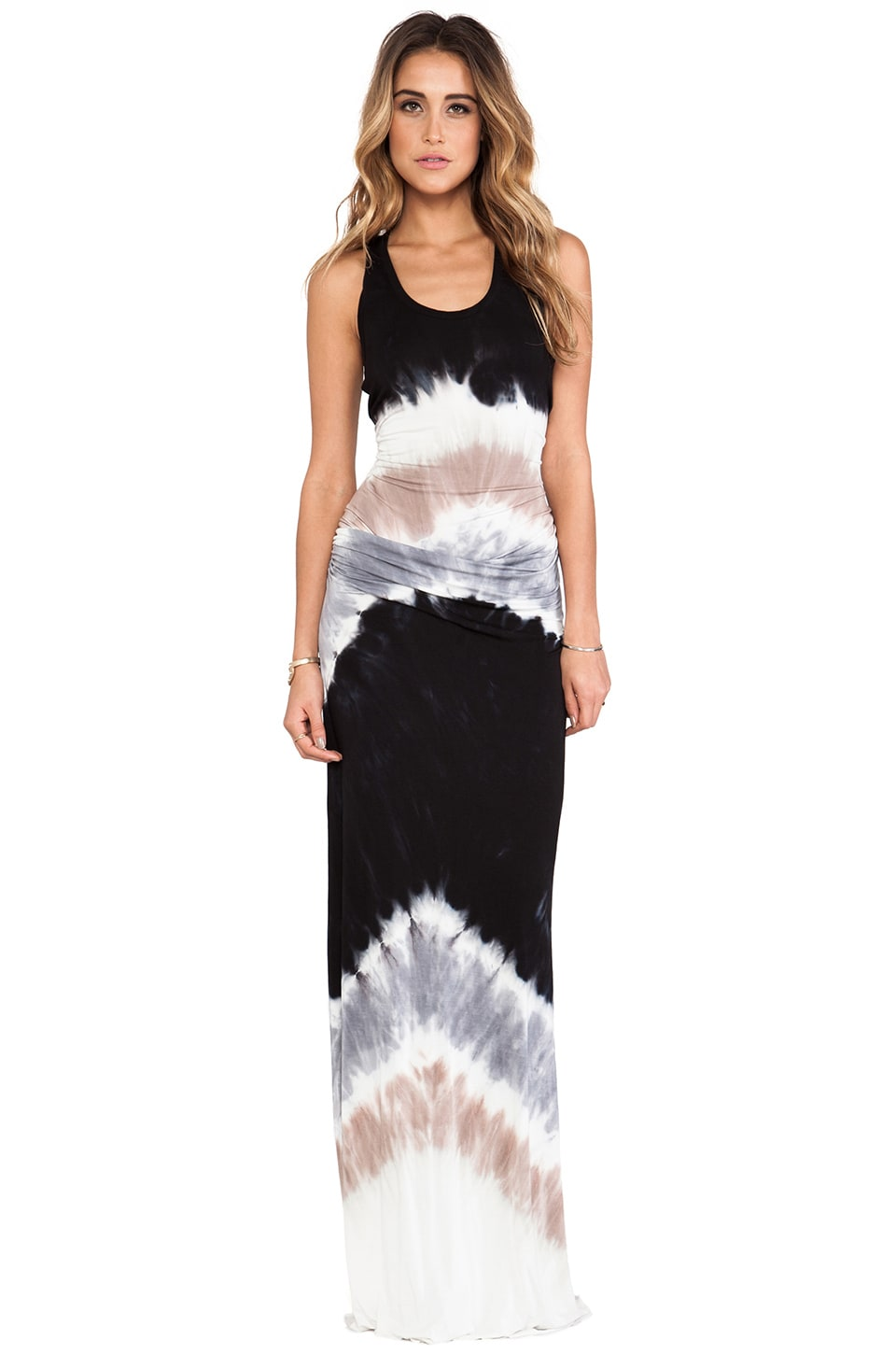 Young, Fabulous & Broke Hamptons Maxi in Black Macaw Wash