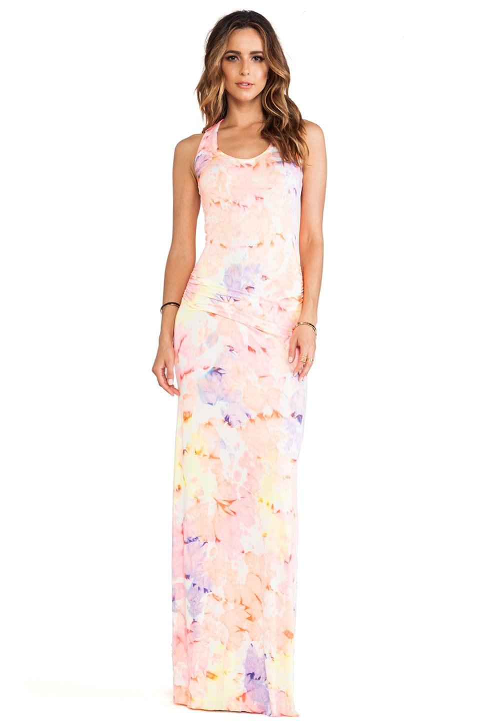 Young, Fabulous & Broke Hamptons Maxi in Papaya Color Splash