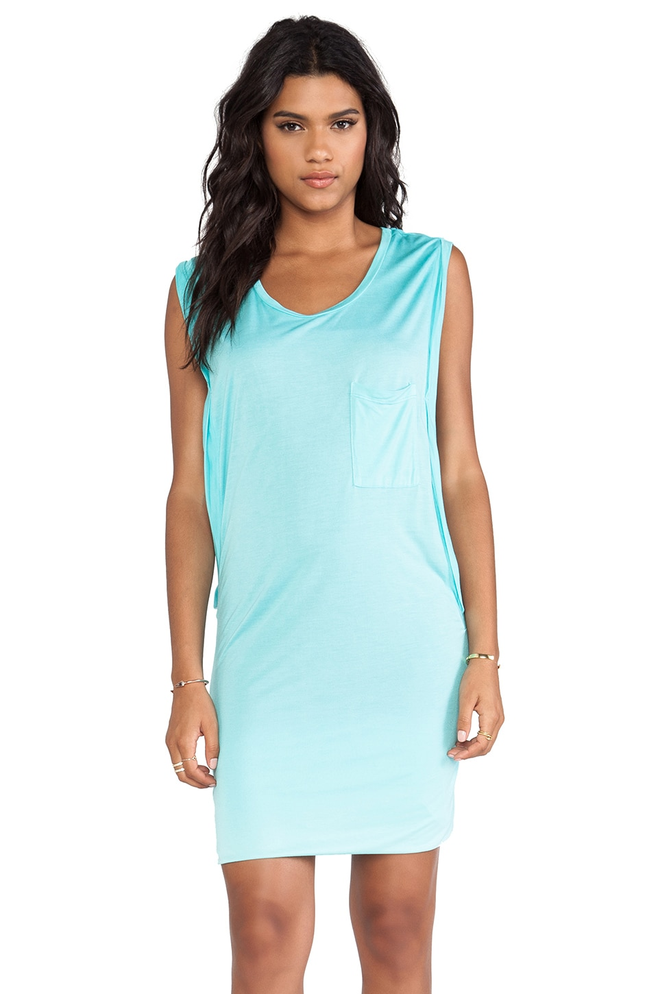 Young, Fabulous & Broke Swift Dress in Aqua & Grey Ombre