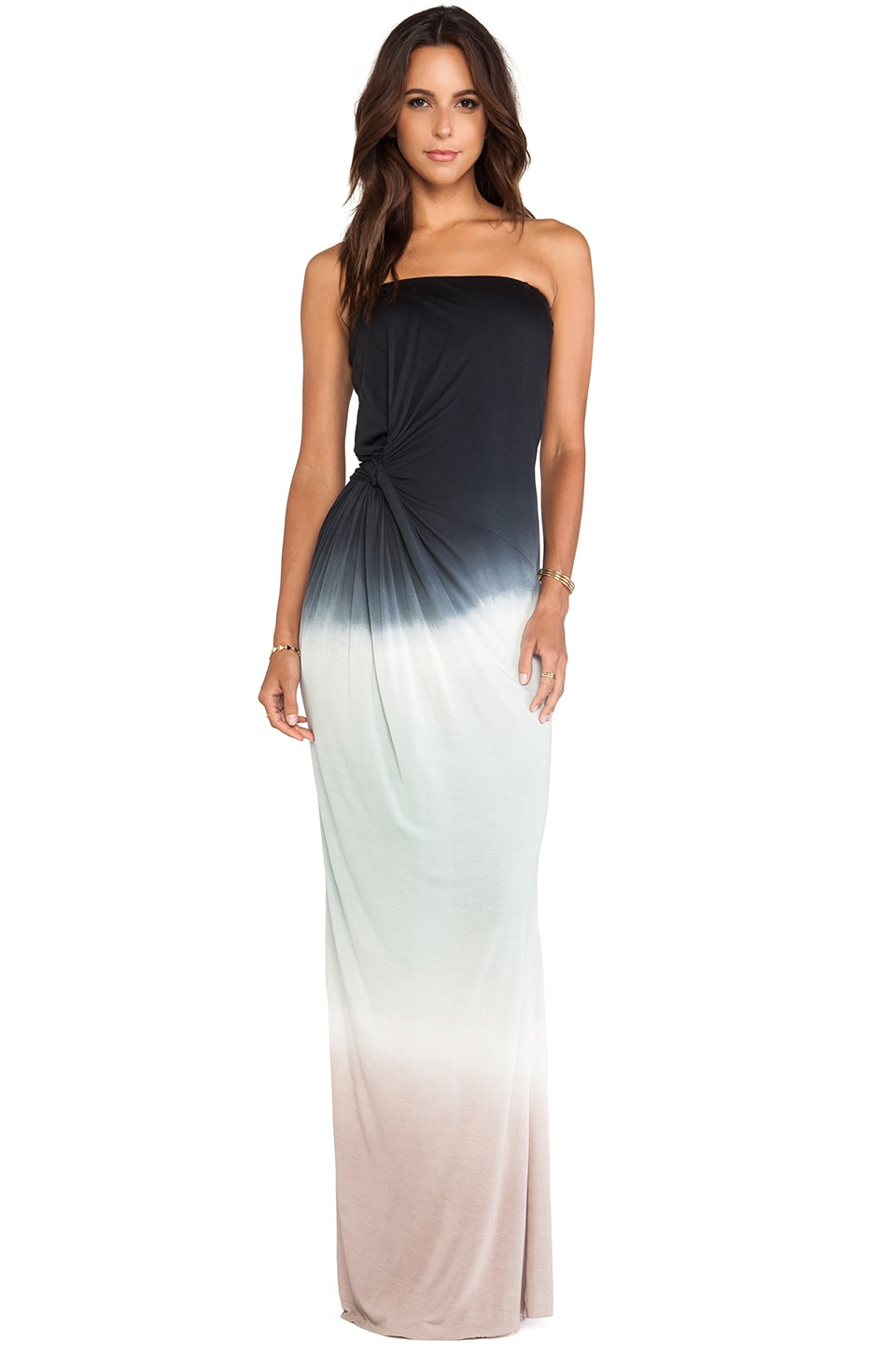 Young, Fabulous & Broke Chandra Maxi in Black & Mint Ombre