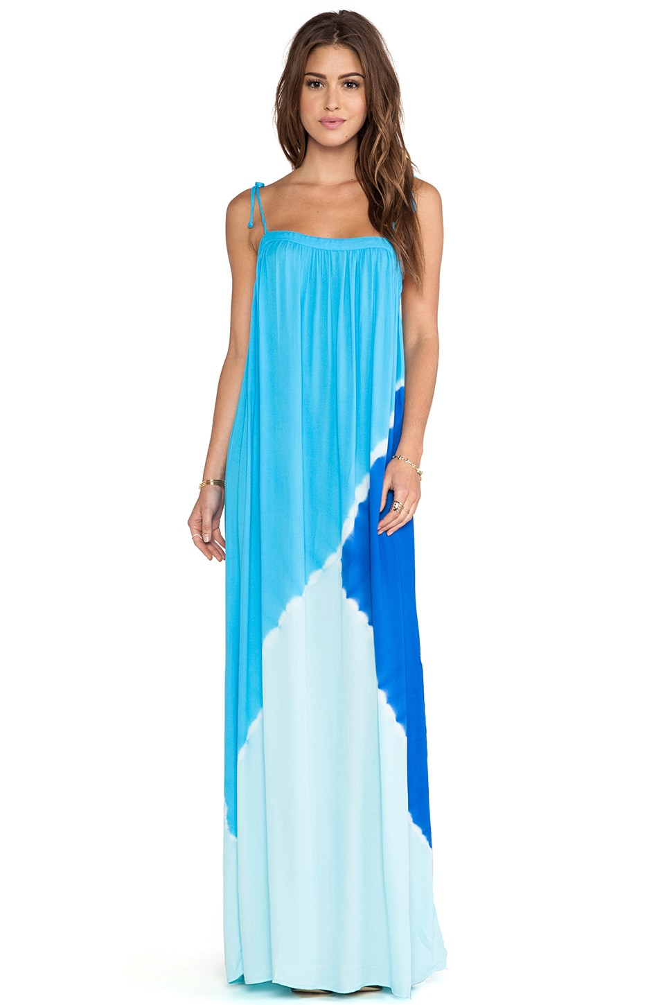 Young, Fabulous & Broke Butter Maxi Dress in Royal Tri Block