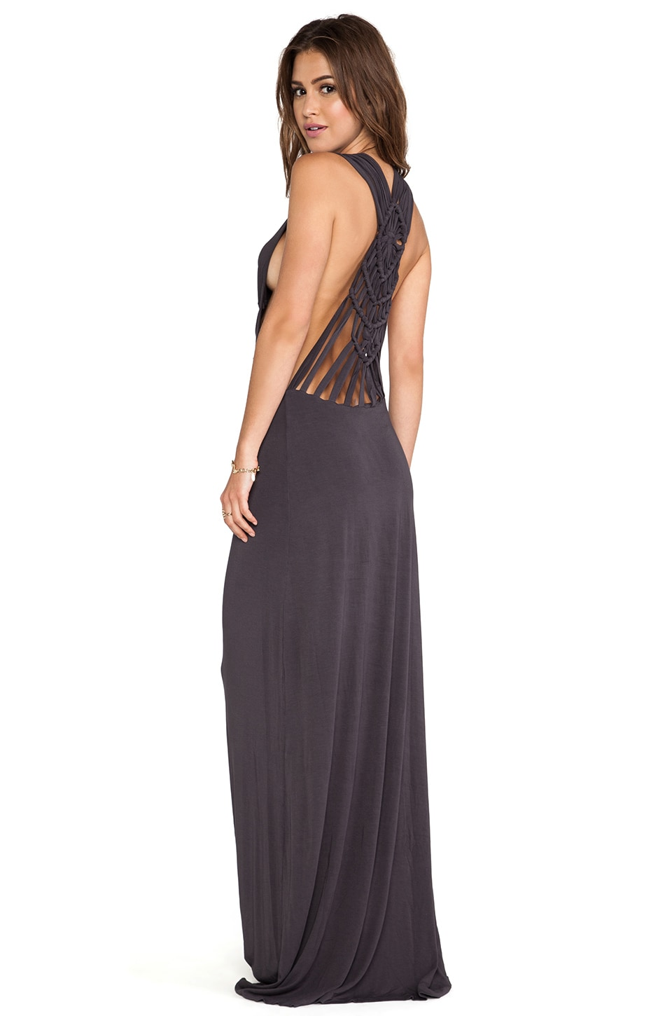 Young, Fabulous & Broke Sweet Maxi Dress in Black