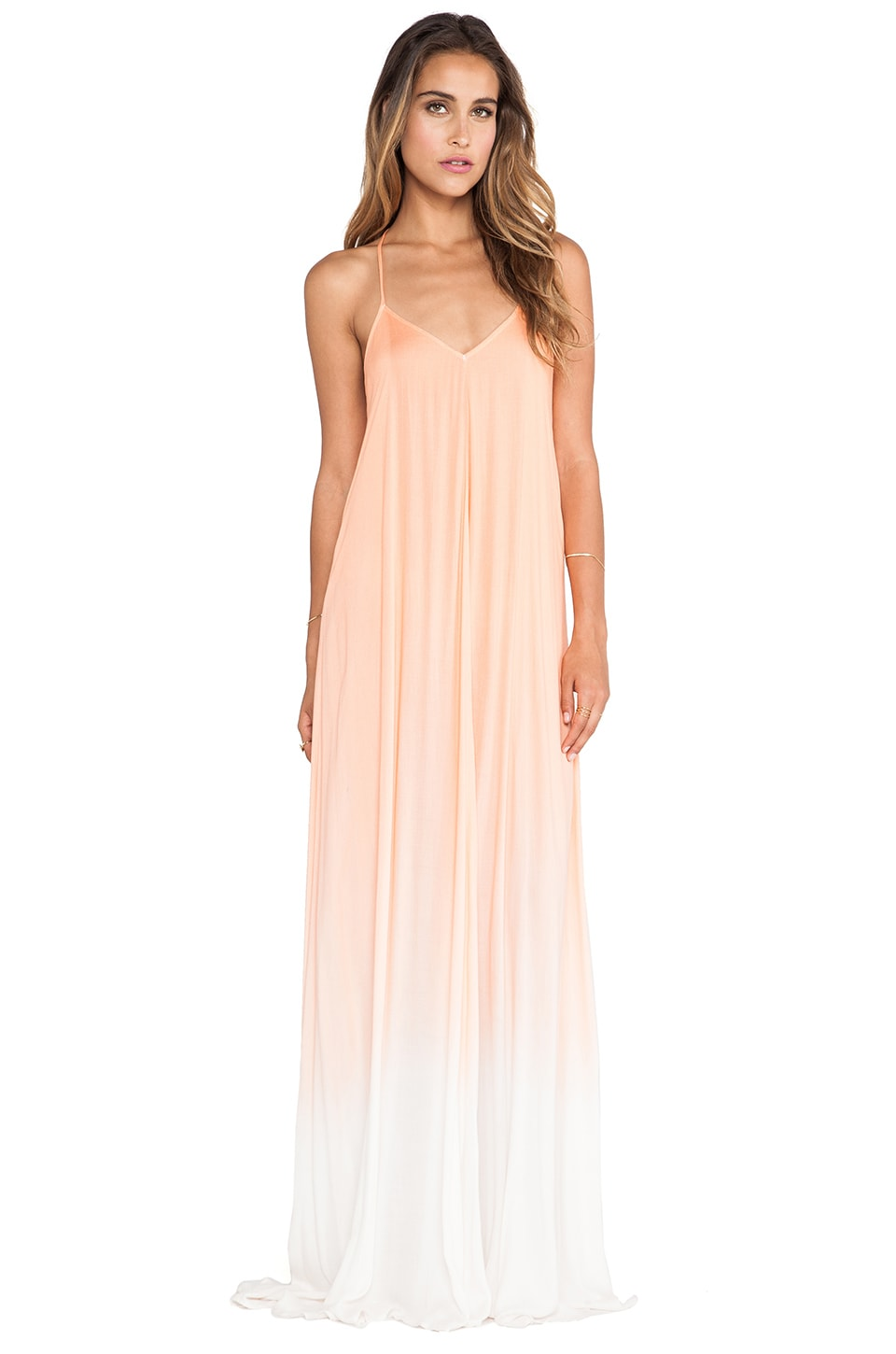 Young, Fabulous & Broke Fortune Maxi Ombre Dress in Melon